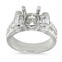 Vintage Channel Set Diamond Semi-Mount Ring - 1.20 ctw.