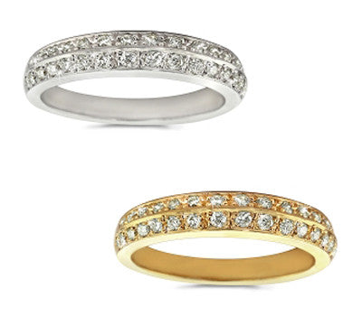Edge Pave Diamond Band - 0.50 ctw.