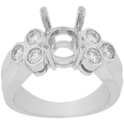 Diamond Clover Semi-Mount Ring - 0.40 ctw.