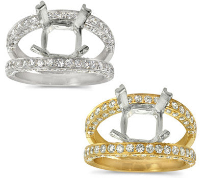 Double Bridge Diamond Ring - 1.25 ctw.