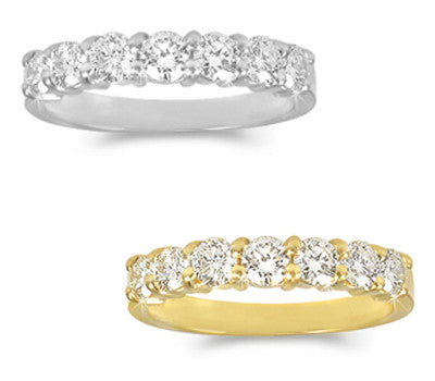 Prong-Set Round Diamond Band - 0.85 ctw.
