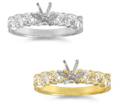 Prong-Set Round Diamond Castle Ring - 0.75 ctw.
