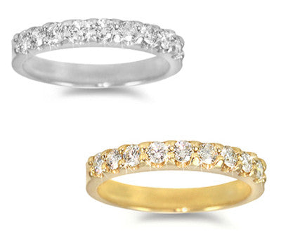Prong-Set Round Diamond Band - 0.45 ctw.