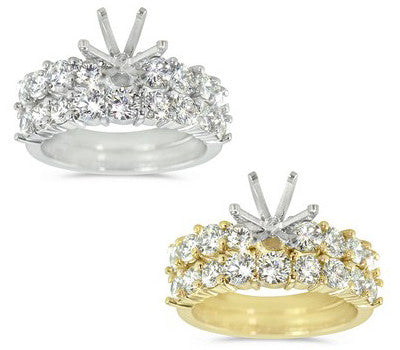 Prong-Set Round Diamond Ring and Band - 0.90 ctw.