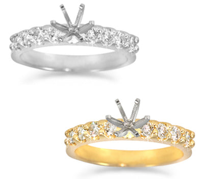 Prong-Set Round Diamond Solitaire Ring - 0.40 ctw.