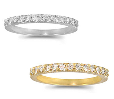 Prong-Set Round Diamond Band - 0.35 ctw.