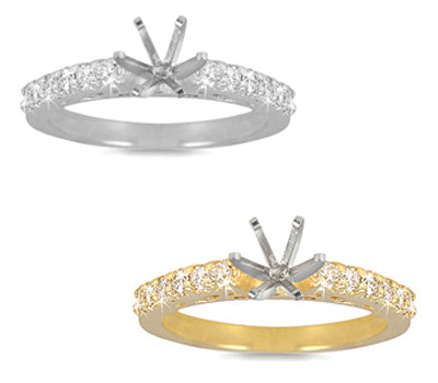 Prong-Set Round Diamond Ring - 0.30 ctw.