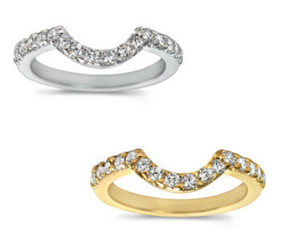 Curved Micro Prong-Set Round Diamond Band - 0.35 ctw.