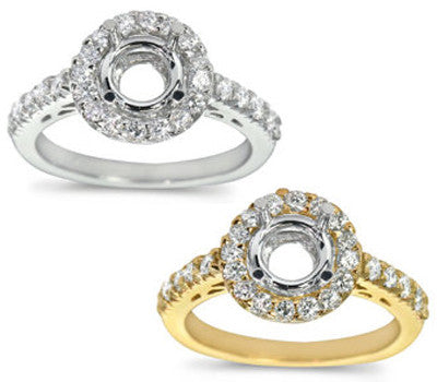 Micro Prong Round Diamond Setting - 0.50 ctw.