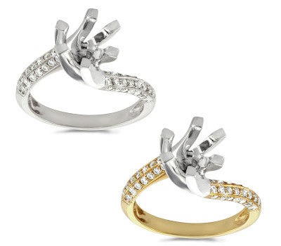Curves of Diamond Ring - 0.50 ctw.