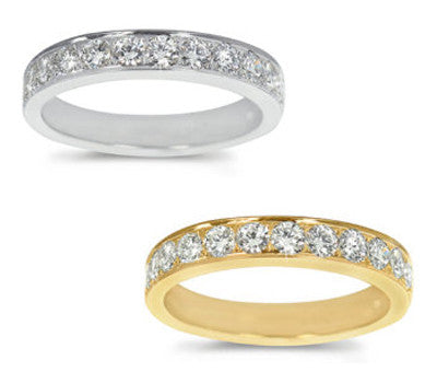 Straight Pave-Set Round Diamond Band - 0.65 ctw.