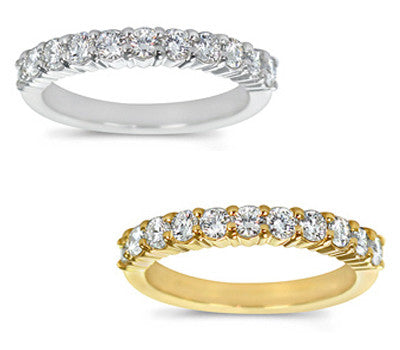 Stylish Prong-Set Round Diamond Band - 0.60 ctw.