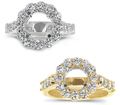 Stylish Prong-Set Round Diamond Ring - 1.45 ctw.