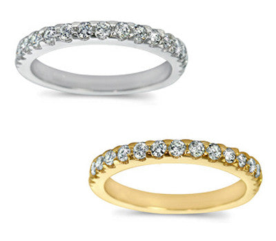 Chic Prong-Set Round Diamond Band - 0.60 ctw.