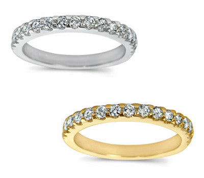 Graceful Micro Prong-Set Round Diamond Band - 0.40 ctw.