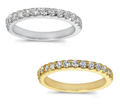 Elegant Prong-Set Round Diamond Band - 0.40 ctw.