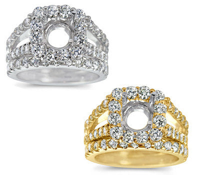 Elegant Prong-Set Round Diamond Wedding Set - 1.70 ctw.
