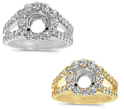 Graceful Micro Prong-Set Round Diamond Ring - 1.30 ctw.
