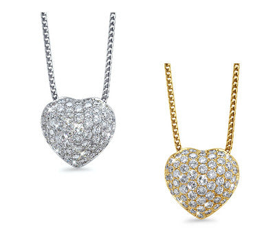 Full Heart Diamond Pendant Necklace