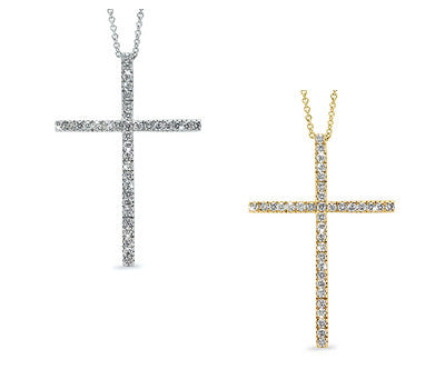 Inspirational Large Cross Diamond Necklace