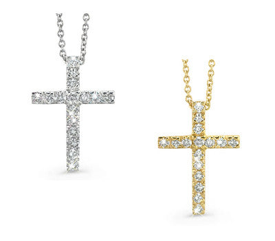 Petite Inspirational Cross Diamond Necklace