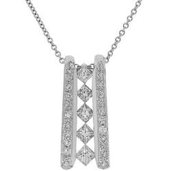 Five Diamond Ladder Necklace