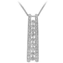 Nine Diamond Ladder Necklace