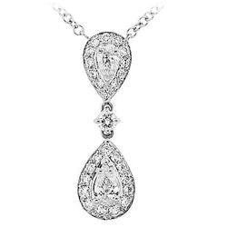 Double Dangle Diamond Necklace