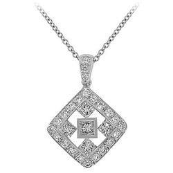 Medium Celtic Diamond Necklace