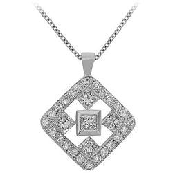 Large Celtic Diamond Necklace