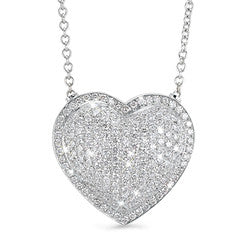Heart Diamond Shapes Necklace