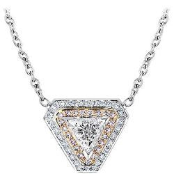 Trillion Diamond Pink Pave Necklace - 1.82 ctw.