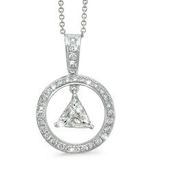 Large Trillion Cut Diamond Necklace