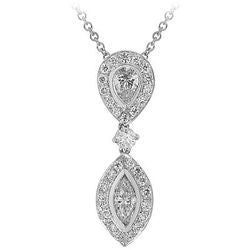 Pear Marquis Dangle Diamond Necklace