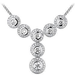 Siete Circulo Bezel Diamond and Diamond Pave Necklace - 2.89 ctw.