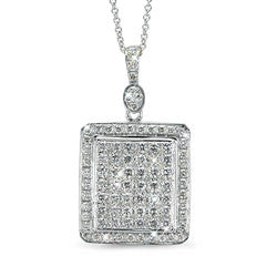 Rectangular Diamond Necklace