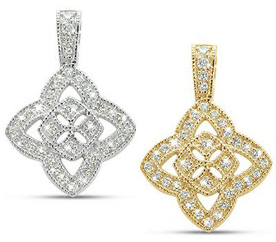 Fancy Clover Slide Diamond Necklace