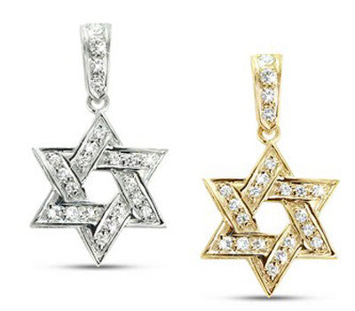 Small Star Of David Diamond Necklace