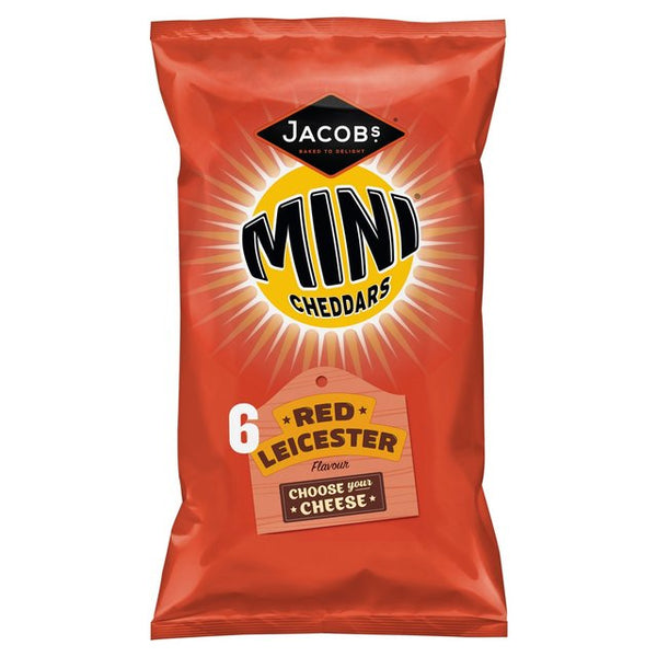 Jacobs Mini Cheddars Red Leicester Flavour 6-Pack