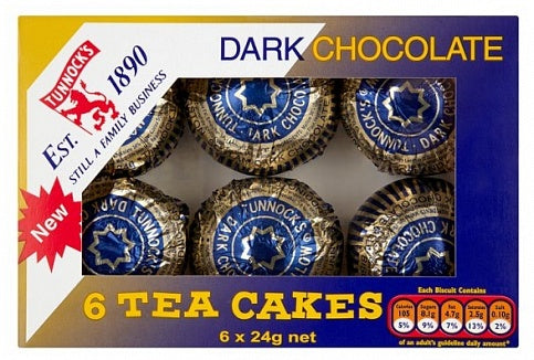 Tunnock's Dark Chocolate Tea Cakes 6 pack