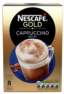 Nescafe Gold Cappuccino Decaf 8pk 120g
