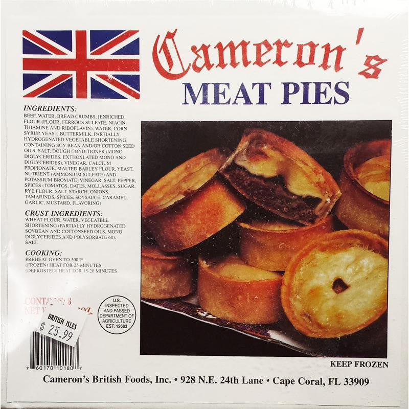 Cameron's Meat Pies box of 4
