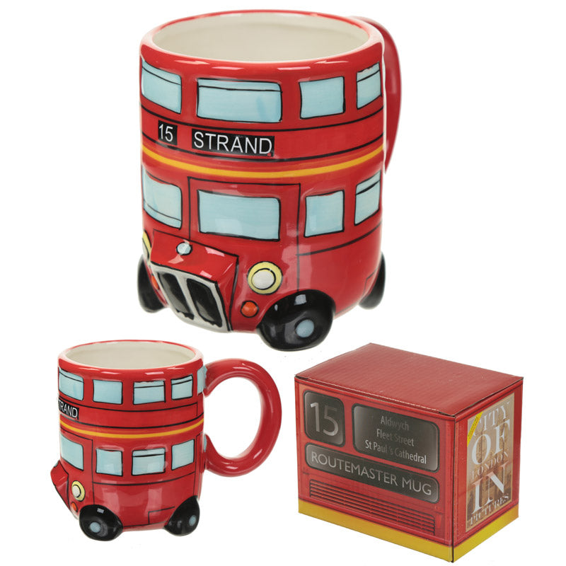 Red Routemaster Bus Mug