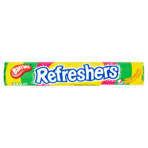 Barratt Candyland Refreshers Fruity Flavour Fizzy Sweets (34g) - The British Pedlar