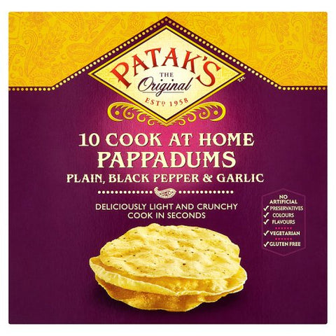 Patak's 10 Assorted Pappadums