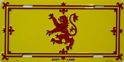 British Pedlar License Plate - Scotland Royal Lion Rampant