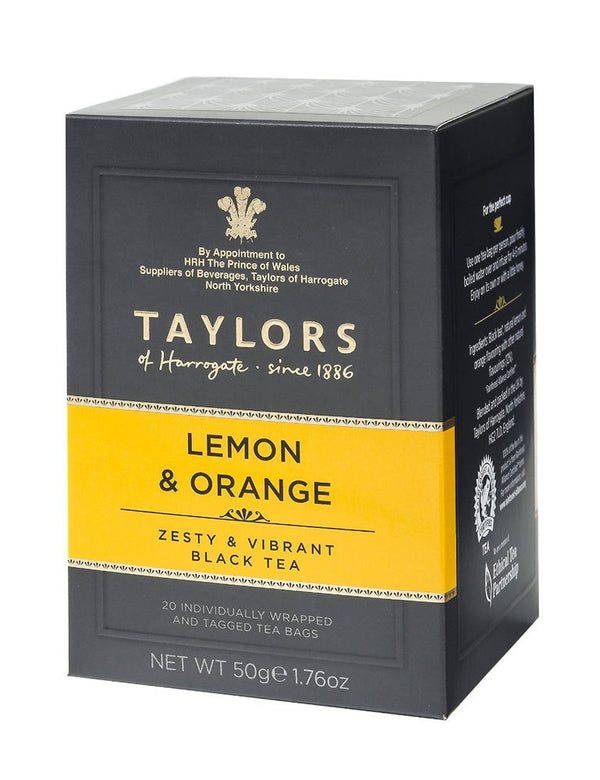 Taylors - Lemon & Orange - 20 Wrapped Tea Bags