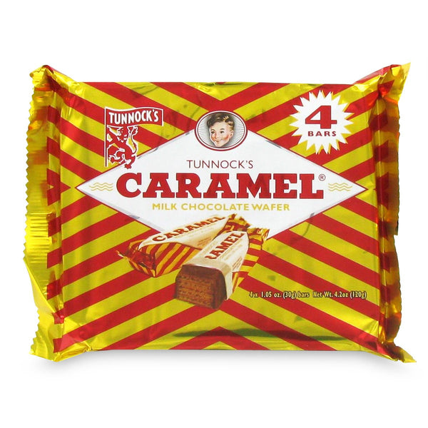 Tunnocks Milk Chocolate Caramel Wafers 4 Pack