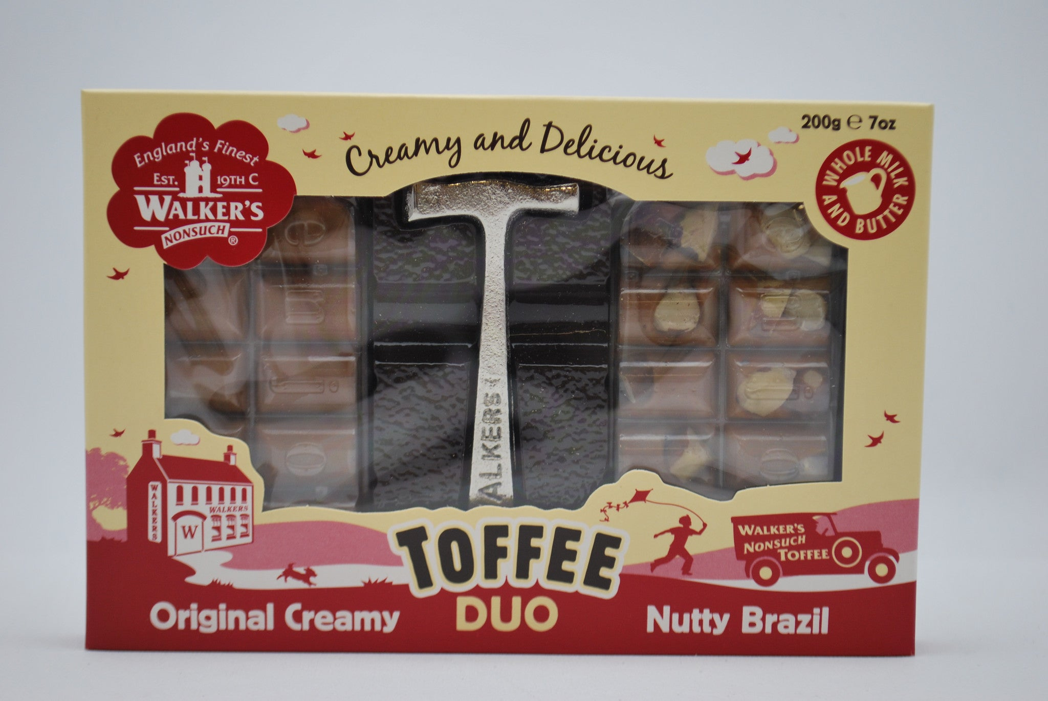 Walkers Nonsuch Toffee Duo Slab Hammer Pack 200g