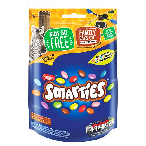 Nestle Smarties Pouch 118g